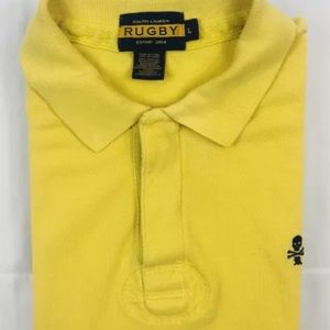 Ralph Lauren Rugby Yellow Large Skull and Cross